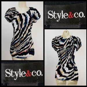 Style & co woman stretch blouse size XS pleats